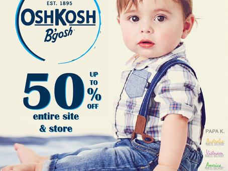 孩子是我們一輩子的事業。美國童裝OKB全面五折起