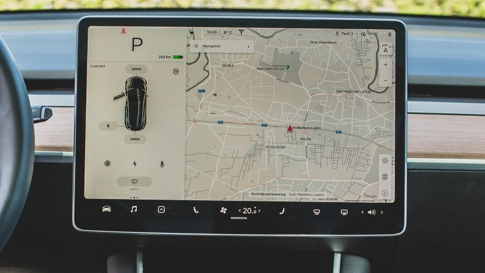 A GPS system in a car