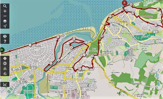 Trail de l'Estuaire de la Dives / Parcours Trail des 100 marches - 15km - 2019