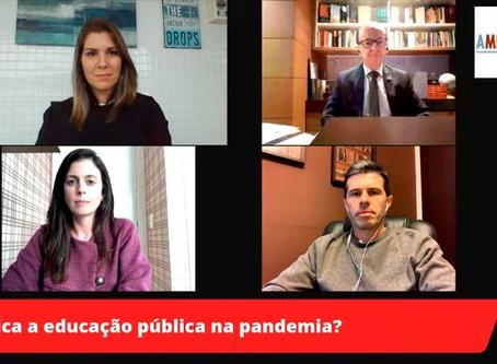 """EDUCAÇÃO PÚBLICA NA PANDEMIA FOI O TEMA DEBATIDO EM MAIS UMA EDIÇÃO DA SÉRIE """"AMPCON ANALISA"""""""