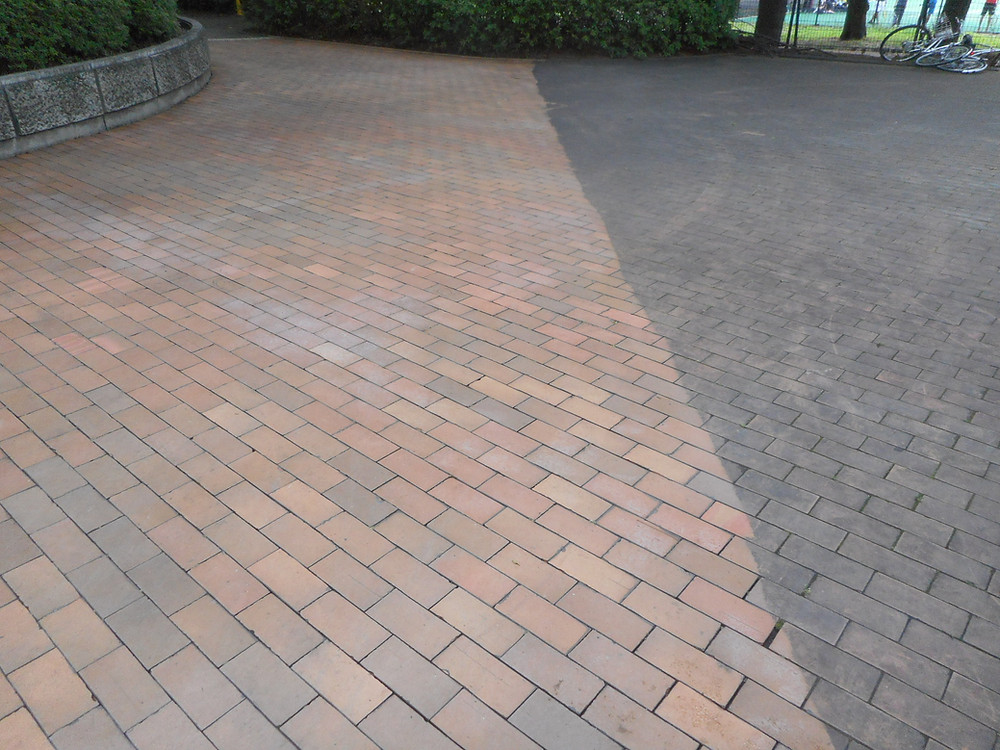 石畳の特殊洗浄