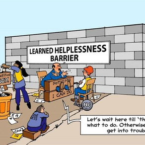 LEARNED HELPLESSNESS CAUSES DEPRESSION