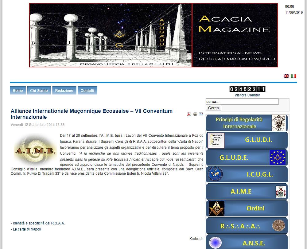 Alliance Internationale Maçonnique Ecossaise – VII Conventum Internazionale