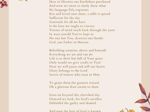 Poem: Thanksgiving Belong to God Alone