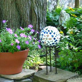 MIY Mosaic Garden Gazing Balls with Recycled Plastic Balls