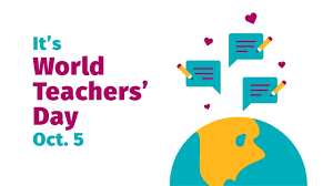 5th Oct: World Teachers' Day by Unesco