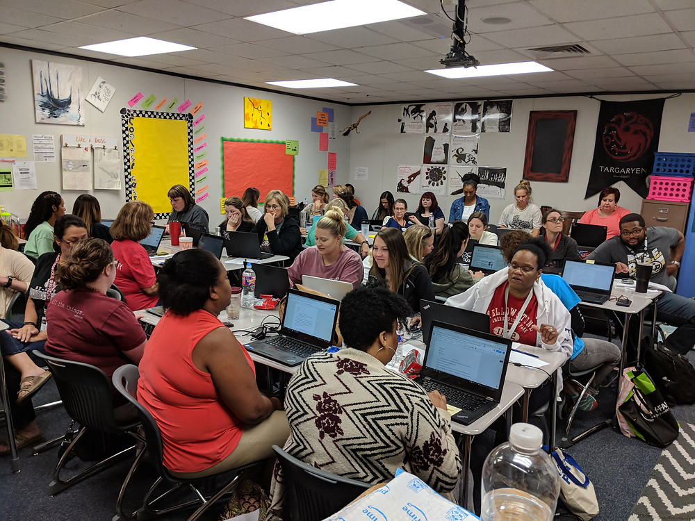 Cypress Fairbanks ISD English Language Arts Teachers Hard at Work Learning G Suite Strategies
