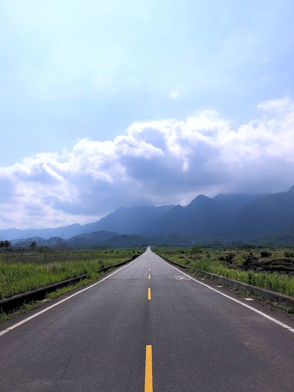 Taitung's King Kong Boulevard is often a deserted road with bucolic scenery.