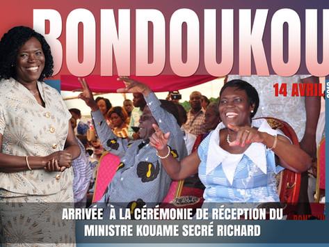 ARRIVÉE DE MADAME SIMONE EHIVET GBAGBO À LA CÉRÉMONIE DE RÉCEPTION DU MINISTRE KOUAME SECRÉ RICHARD