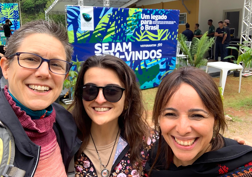 Juliana and I join Frineia Rezende for the requisite Brazilian selfie at the orchestral celebration at Legado das Águas