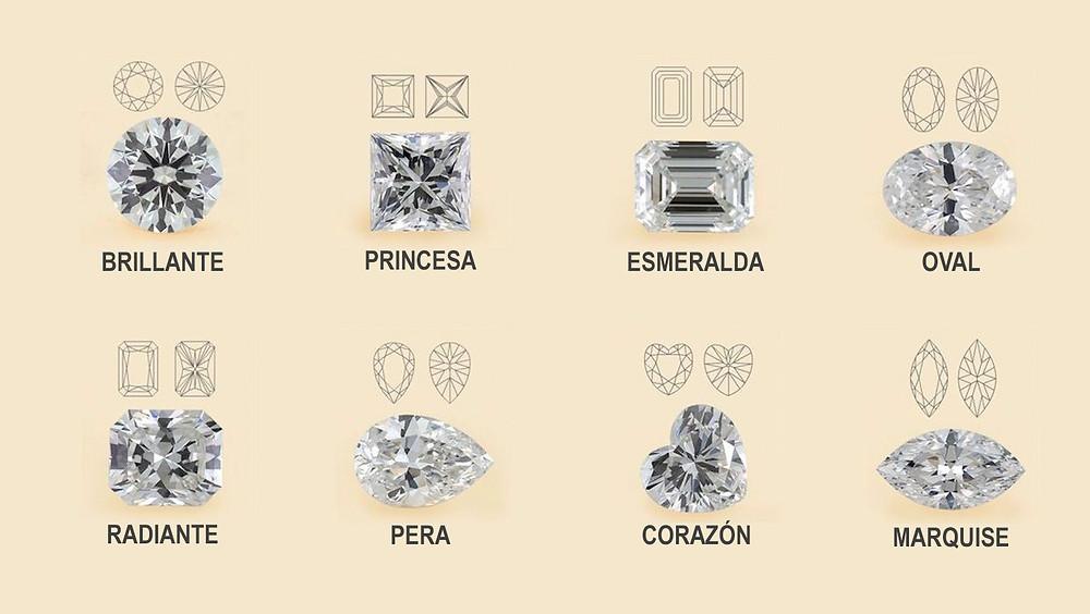Formas de diamante.
