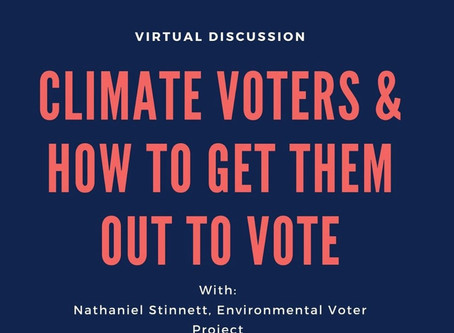 EVP and IPL are hosting a webinar on getting out the Environmental vote