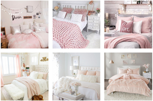 feminine bedroom decor ideas pink and cushions