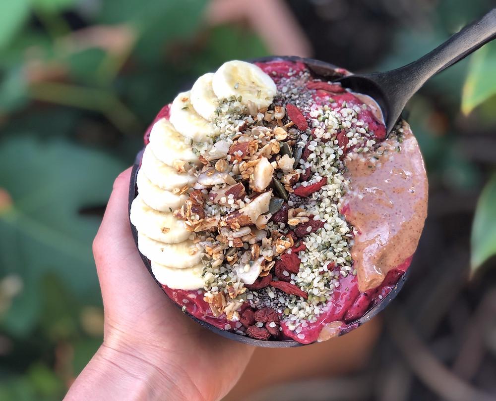 delicious Acai bowl recipe vegan healthy plant-based