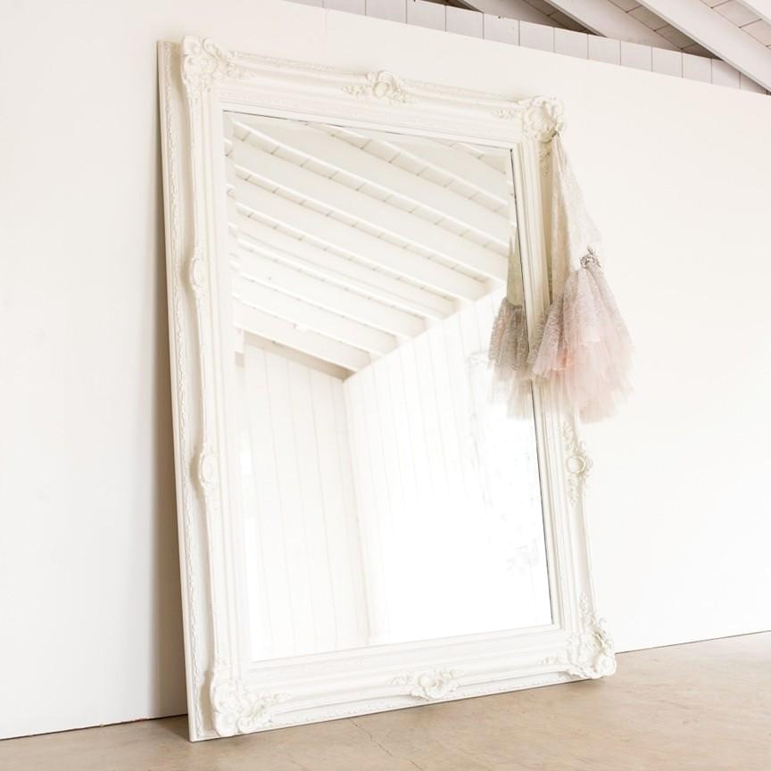 feminine ornate shabby chic mirror