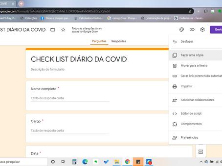 Check list diário da COVID-19