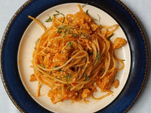 Your favorite pasta dish with a hint of spice.
