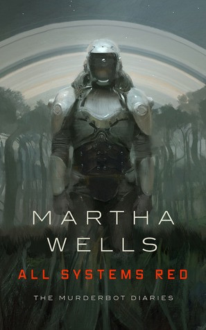 an armored humanoid figure faces the reader; its face is covered by an opaque helmet