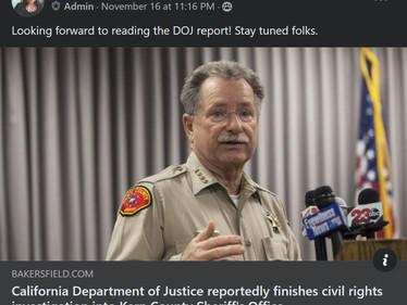 California DOJ reportedly finishes civil rights investigation into Kern County Sherriff's office