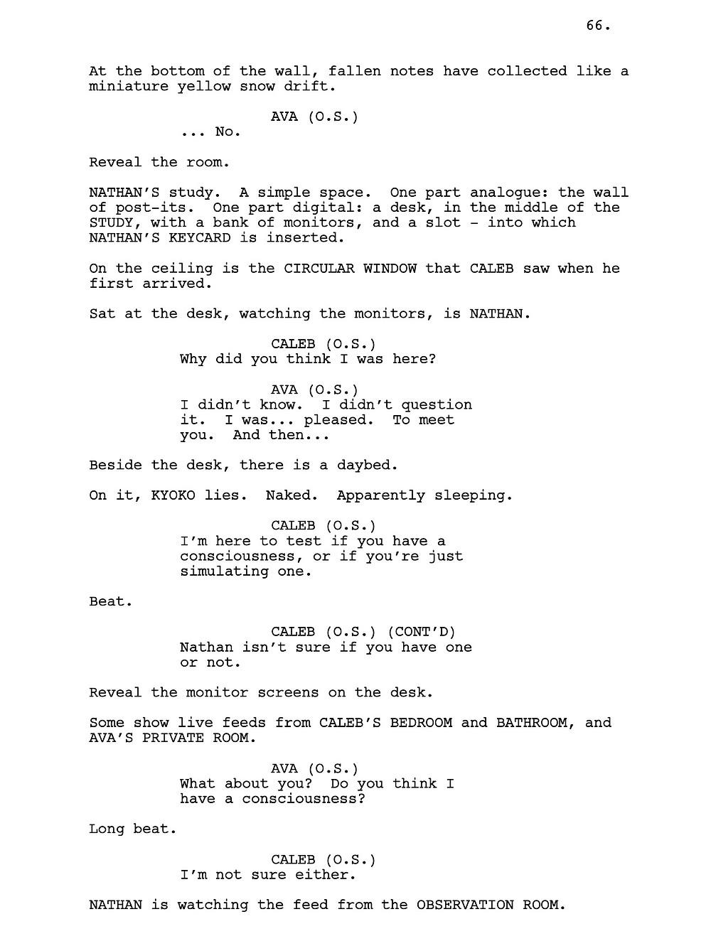 Ex Machina Script