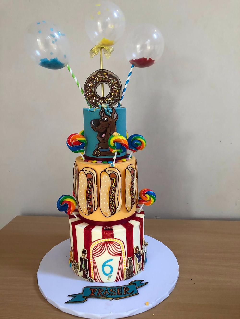 Amazing circus theme birthday cake