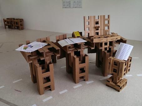 Hospital space mockup with cardboard #Blokies