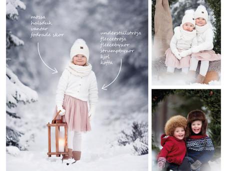 Så klär du dina barn varmt för vinterfotografering!