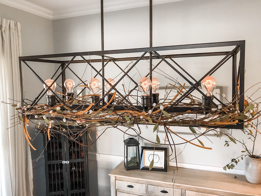 Jennifer Janeway Designs - fall farmhouse fixture