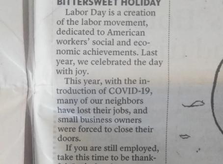 Bittersweet Labor day