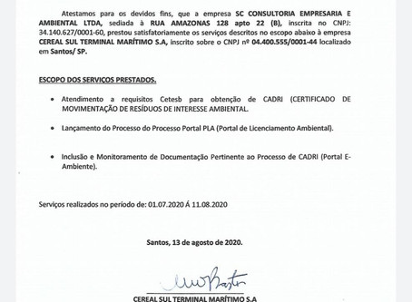 Atestado de Capacidade Técnica_Terminal Cereal Sul_Processo de Cadri 08.2020