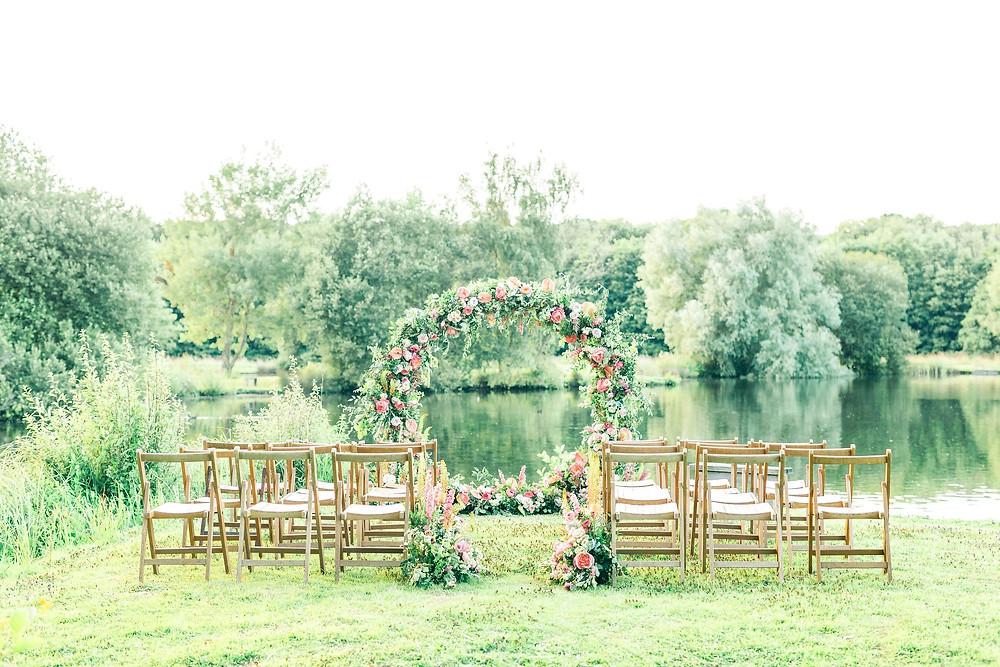 Wedding Moongate by Lake