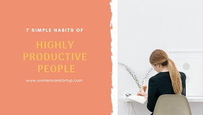 7 Simple Habits Of Highly Productive People