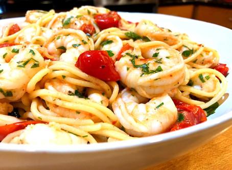 Herbed Shrimp Spaghetti