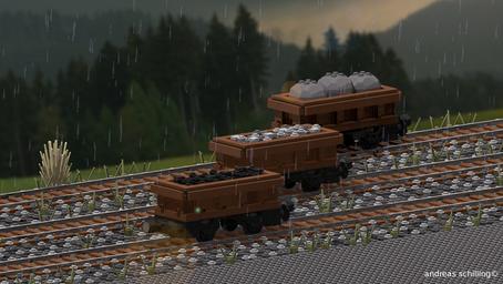 Kleine Kohlenwagen