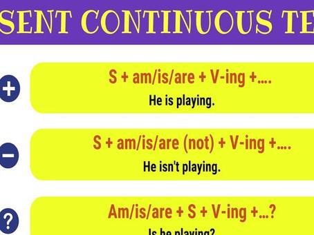 Present Continuous Tense (Şimdiki Zaman)