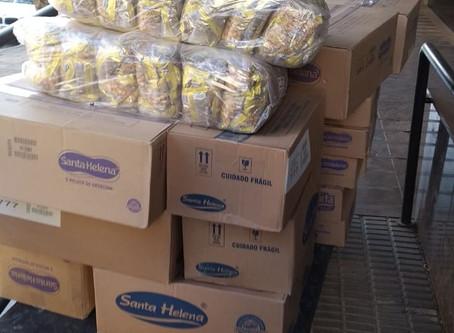 Santa Helena Alimentos doa 2.200 quilos de amendoim para a campanha Comunidade Viva sem Fome