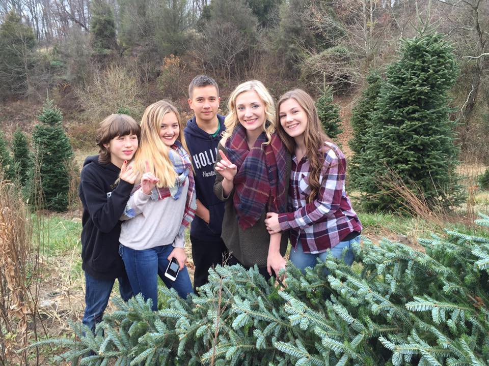our family tradition is getting a christmas tree together