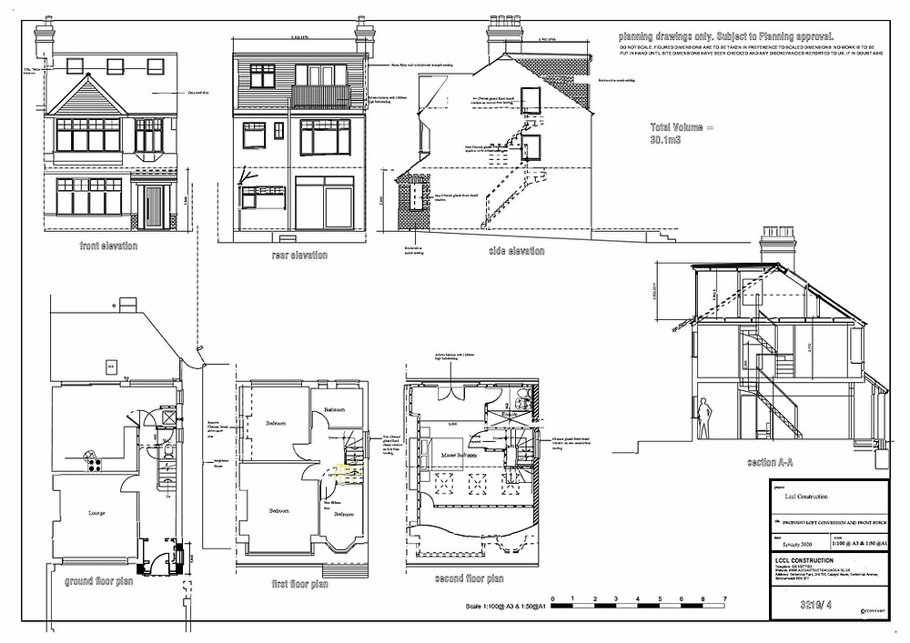 Architecture Design Hip to Gable Loft Conversion in East Barnet, London EN4