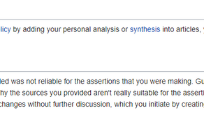Wikipedia have threatened to ban me if I continue with my disruptive editing...