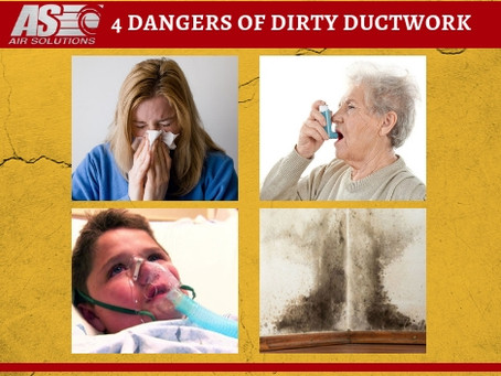 4 Dangers of Dirty Ductwork