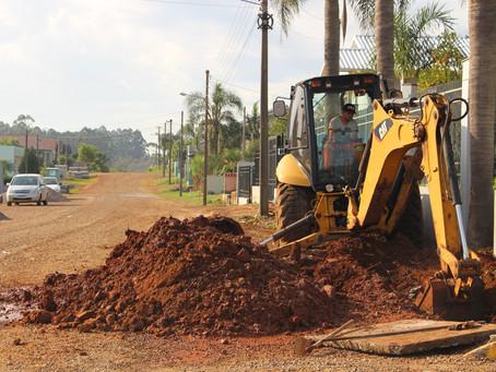 Município inicia mais uma obra de pavimentação