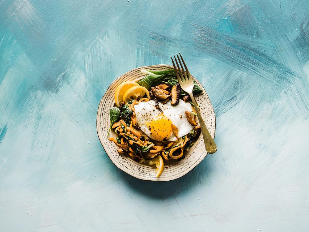 Morning eggs macronutrients by Kassandra Hobart