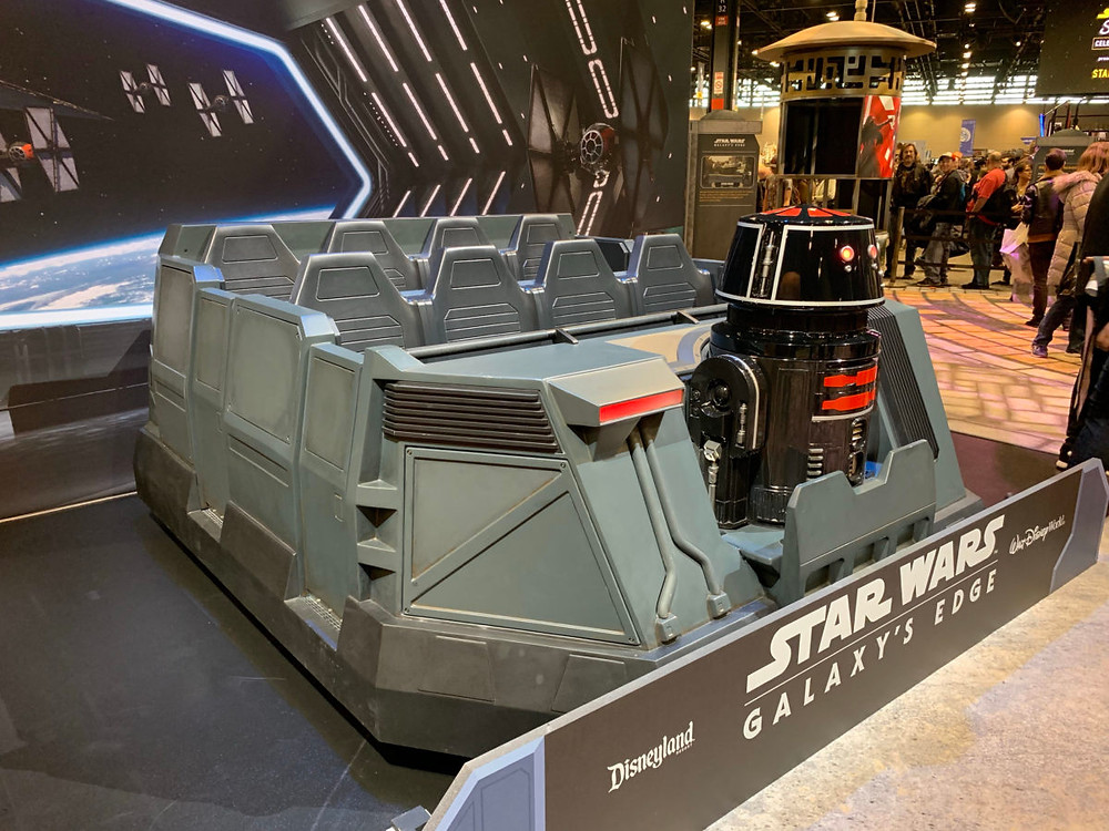 Rise of the Resistance Ride Vehicle on display at Star Wars Celebration