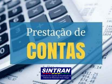 PRESTAÇÃO DE CONTAS 2019 – SINTRAN