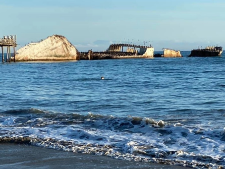 Gravity Is Working Against Me-100 Year Old Concrete Ship At Seacliff California