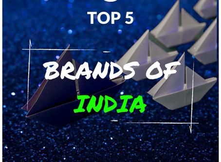 TOP5: Brands of India, Report 2020