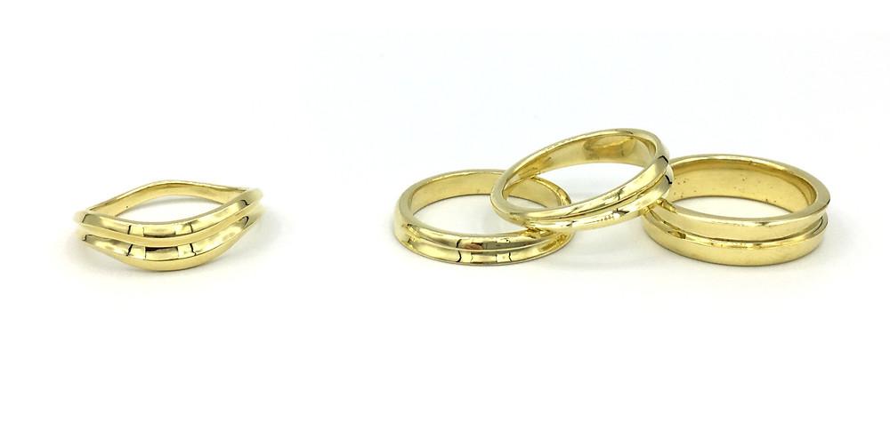 Stacking Rings in 18k Yellow Gold