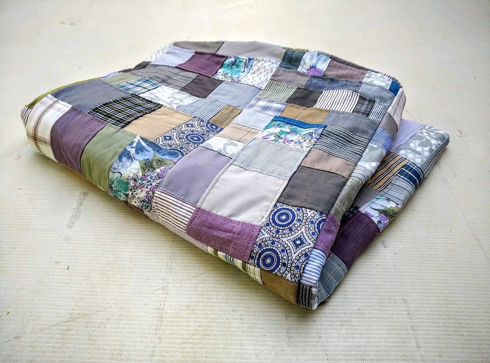 Winter patchwork throw