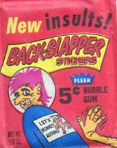 Back Slapper Stickers New Insults 1970.j