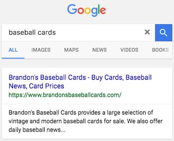 Google référencement - La description de la page sur le moteur de recherche